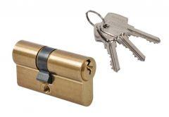 Cylinder lock Gerda E1 25/25 brass