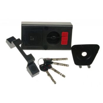 Rim Lock GERDA TYTAN  ZE-1 ZP certificated C Class, 4x keys with Fixing Elements and alarm (for right doors opened from the outside)