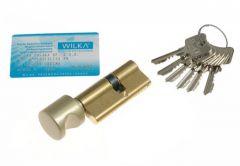 Wkładka bębenkowa WILKA 1405 C W235 30/35 z gałką mosiądz