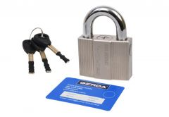 Anti-burglary Padlock ZIRCON 106, 6 class, 3 Keys in set