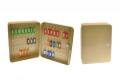 Key Box Cabinet for 24 Keys - Beige