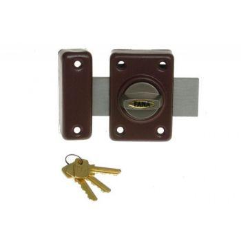 Rim Lock ZDD 3 Keys - Brown