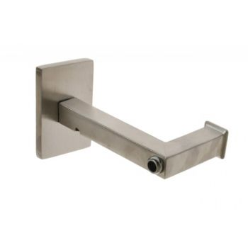 Square Handrail Wall Bracket with M8 thread - Stainless AISI304