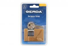 Padlock BRASS LINE with Straight Shackle T 65  (Blister Package) KTM, 1 Class - Brass