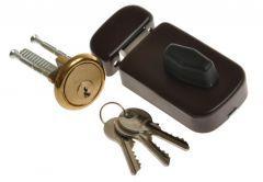 Rim Lock LOB 50 TZ51 latch, Brown
