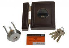 Rim Lock LOB TA01 YETI 1 certificated; C Class, Brown, 3x keys