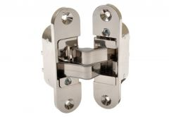 Mortise transparent hinge, nickel   right   large