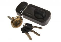 Rim Lock 50-58 with cylinder, Graphite