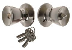Door Cone Knob  with Cylinder CH 6871, PZ - Nickel/Matt
