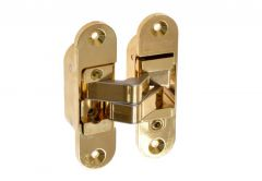 Invisible Hinge, Large, Left - Brass