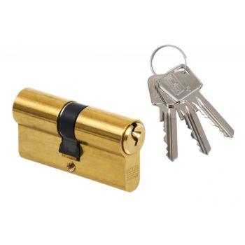 Cylinder lock LOB ARES WA54 55/65 , brass