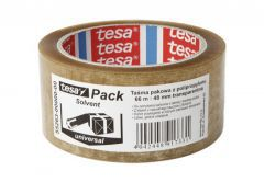 Packing Tape TESA SOLVENT length 66m, width 48mm (55263-00000-00) - Transparent