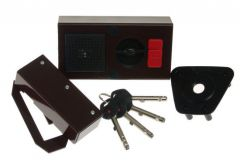 Rim Lock GERDA TYTAN  ZE-1 WL Certificate C Class, 4x keys with Fixing