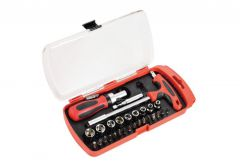 Drill Bits and Socket Wrench Set, 29 elements MHA01016