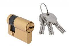 Door Cylinder DORMA DEC 260 10/30, brass,  3 keys,  certificated  5.1 B class
