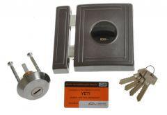Rim Lock LOB TA01 YETI 1 certificated; C Class, Graphite, 3x keys