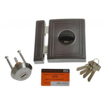 Rim Lock LOB TA01 YETI 1 Certificate; C Class, Graphite, 3x keys