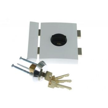 Rim Lock LOB TA01 YETI 1 certificated; C Class, White, 3x keys