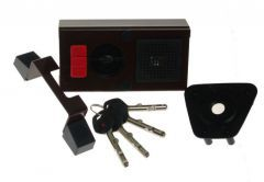 Rim Lock GERDA TYTAN  ZE-1 ZP certificated C Class, 4x keys with Fixing Elements (for left doors opened from the outside)