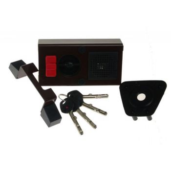 Rim Lock GERDA TYTAN  ZE-1 ZP Certificate C Class, 4x keys with Fixing
