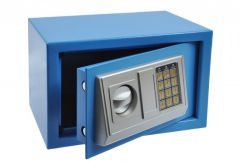 Safe OFFICE with electronic lock (310x200x200 mm) - Blue