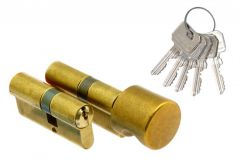 Set of Wilka cylnders 1400 30/40+ 1405 30K/40 with knob, brass, B clas