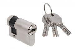 Door Cylinder DORMA DEC 260 10/40, nickel,  3 keys, certificatedd  5.1 B class