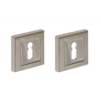 Lock For Sliding Door With Square Handle Matt Chrome Wc