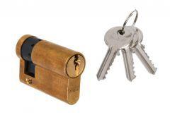Door Cylinder DORMA DEC 150 10/40, brass 3 keys