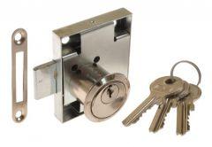 Furniture Lock LOB ZMB-2, Nickel, Right