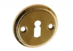 Escutcheon, Round, BB (BISZKOPT, ŁYŻECZKA) whith holes - Brass