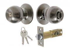 Door Round Knob  with Cylinder CH 6871, PZ  - Nickel/Matt
