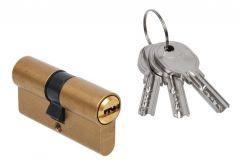 Door Cylinder DORMA DEC 260 30/30, brass,  3 keys,  certificated  5.1 B class