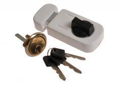 Rim Lock 50-60 with cylinder, White