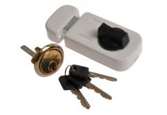 Rim Lock 50-60 with cylinder, White