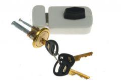 Rim Lock LOB 50 TZ51 latch, White