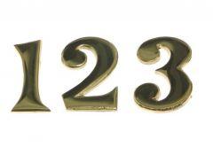 5cm Brass self-adhesive numbers