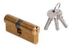 Cylinder DORMA DEC 150 30/30, brass 3 keys