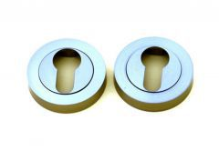 Escutcheon, Round, PZ  (PROTON) - Nickel-Polished Satin