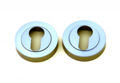 Escutcheon, Round, PZ (PROTON) - Nickel-Polished Satin