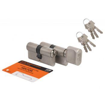 Cylinder SET HEKTOR 45knob 30+45/30 nickel B class, 6keys