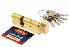 Cylinder lock ABUS KD10 30K/40 brass with knob 5.2 class