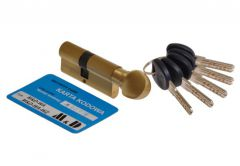 Cylinder lock MD-WA brass with knob certificate C 6.0 class.2. 40K/35