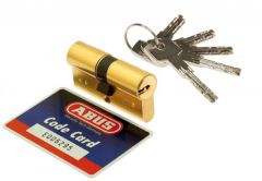 Abus D15 Cylinder 30/30 fortified by 10-ratchet, brass, 5 symetric key