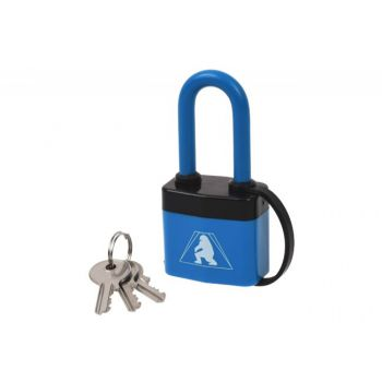 Padlock Lamella, Latch KL41Y PCV with Extra Long Shackle in PCV Cover
