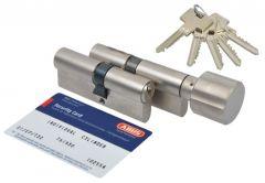 Cylinder SET ABUS Pfaffenhain Standard 30/30+K30K/30 nickel (5 serrat