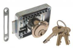 Furniture Lock LOB ZMB-3, Nickel