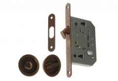 Mortise Lock for sliding doors with fitcangs, OG, Patina, WC