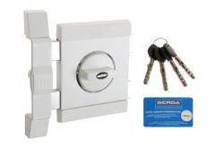 Rim Lock GERDA TYTAN ZX certificated C Class, 4x keys without Fixing Elements