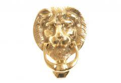 Small KOLM Lion Door Knocker  brass